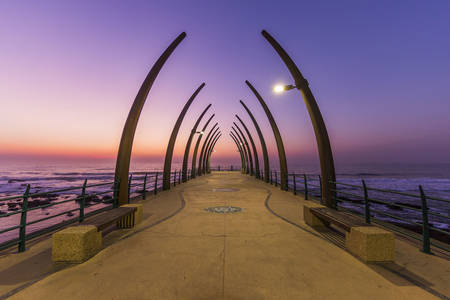 Pier on Umhlanga Beach in Durban