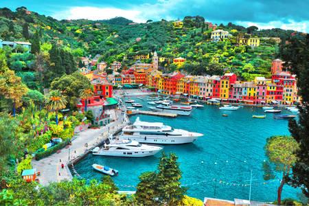 View of the bay in Portofino