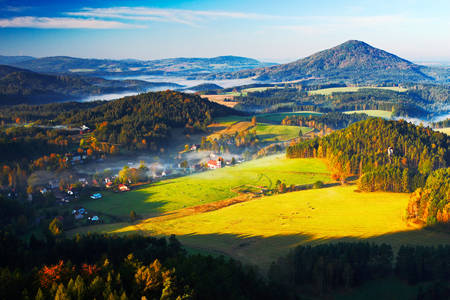 Autumn landscape of the Czech Republic