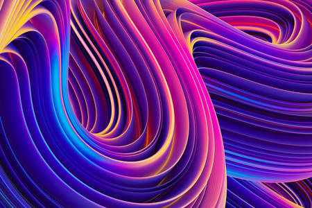 Abstraction 3D: Vagues