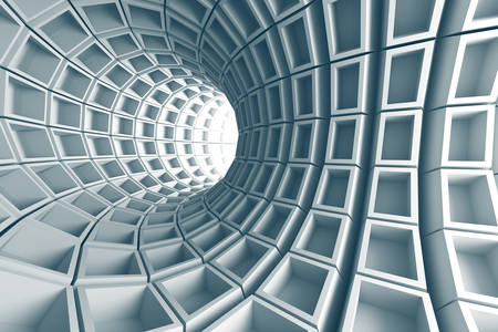 Abstraction 3D: tunnel en Acier