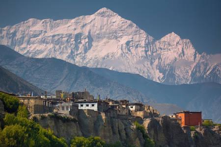 Dedina v Himalájach