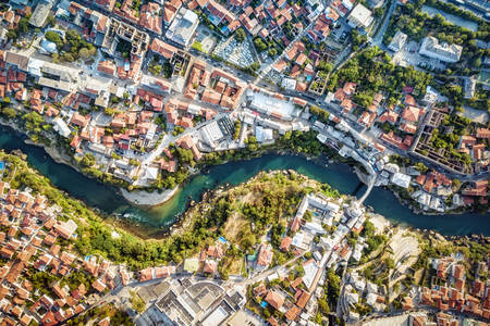 Mostar from a bird's eye view