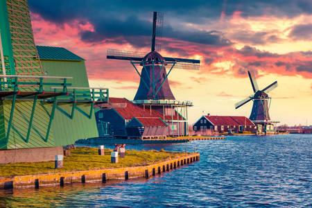 Molinos de viento en Zaanse Schans