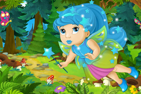 Fairy in the forest