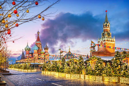 New Year on Red Square in Moscow