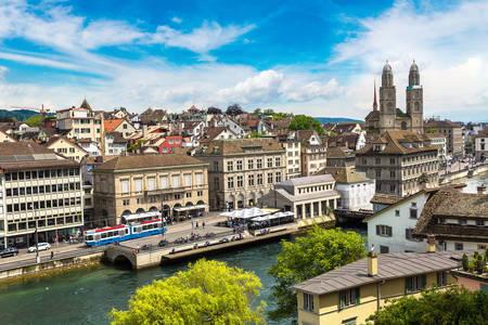 Vedere pe terasamentul Zurich
