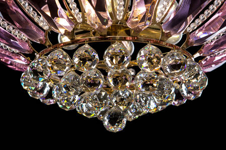 Crystal chandelier with crystals