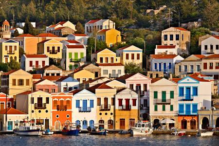 Casas en la isla de Meisti