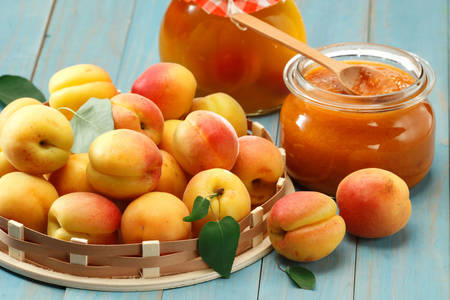 Apricots and apricot jam