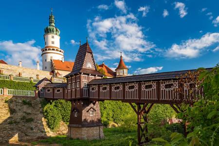 Krytý most na hrade Nové Mesto nad Metují