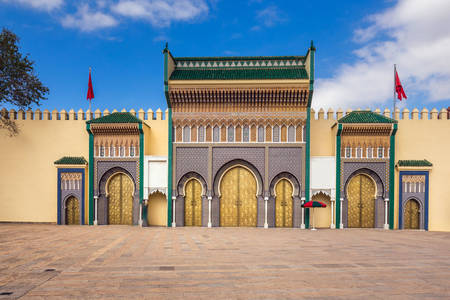 Main gate of the Royal Palace in Fez