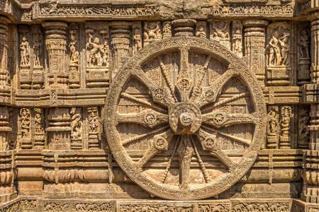 Stone wheels at Konarak Sun Temple