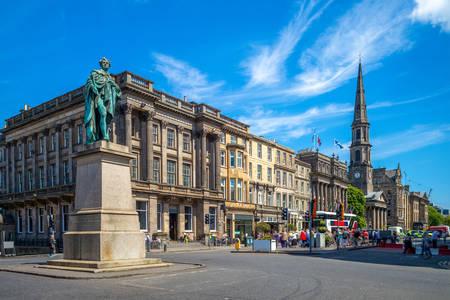 View of George Street in Edinburgh