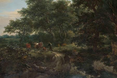 """Jacob van Ruisdael: """"Erdei jelenet"""""""