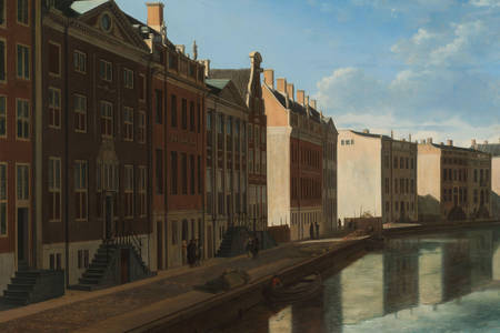 "Gerrit Adriaensz. Berckheyde: ""View of the Golden Bend in the Herengracht"""