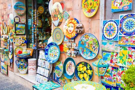 Negozio di ceramiche a Vietri sul Mare