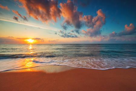 Marinho pôr-do-sol