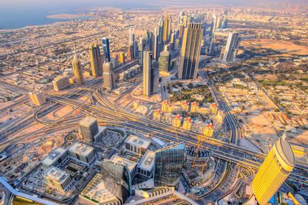 Uitzicht vanaf de Burj Khalifa
