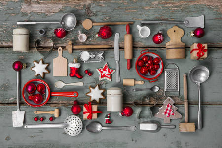 Kitchen tools and Christmas toys