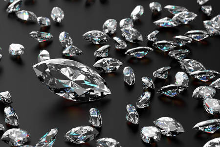 A scattering of diamonds