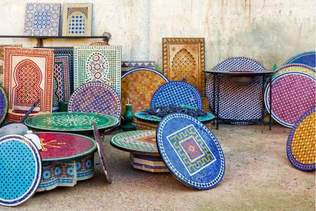 Moroccan mosaic countertops