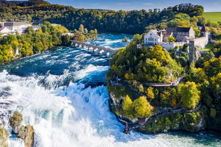 Wodospad na rzece Ren
