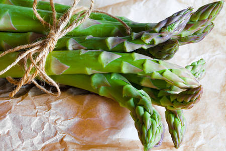 Fresh spears of asparagus