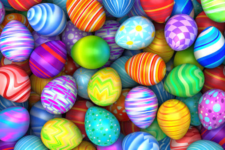Easter eggs with different patterns