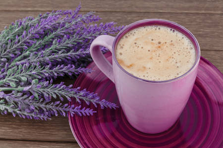Cappuccino and lavender bouquet