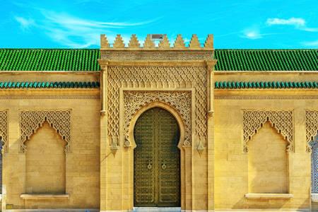 The door to the mausoleum of Muhammad V