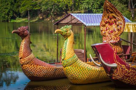 Beautiful boats on the lake