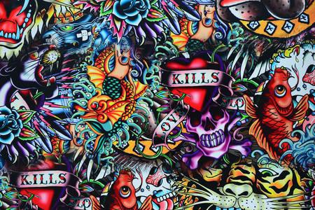 Graffiti in grunge style