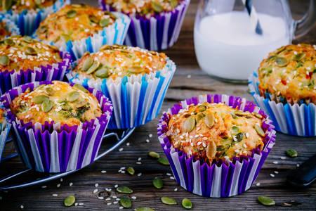 Semiačkové a sezamové muffiny