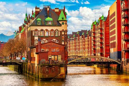 Warehouse district Speicherstadt in Hamburg