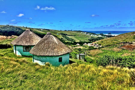 African huts Kos