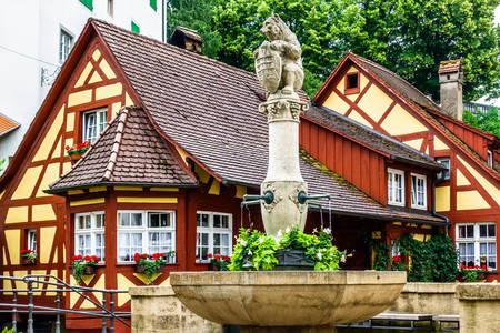 Fontanna do picia w Mersburgu