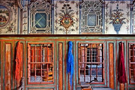 Inside the mansion of George Schwartz in Ambelakia