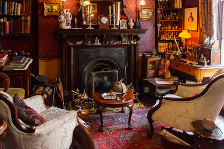 Living room at the Sherlock Holmes Museum