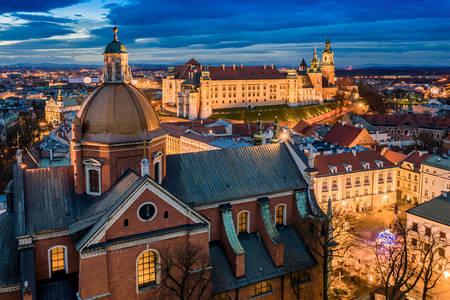 Krakow'un tarihi merkezi