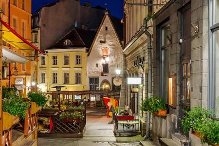 Straten van het oude Tallinn