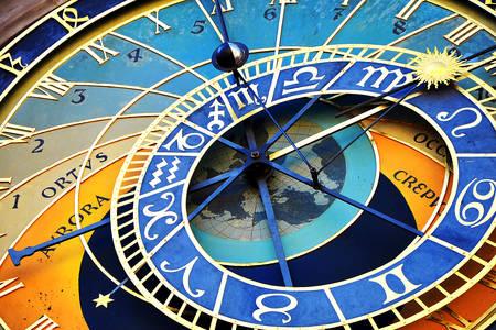Esfera astronómica en el Reloj Astronómico de Praga