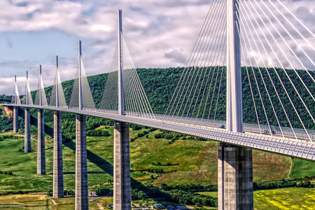 Cable-stayed bridge - Miyo Viaduct