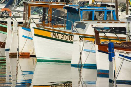 Vissersboten in de haven