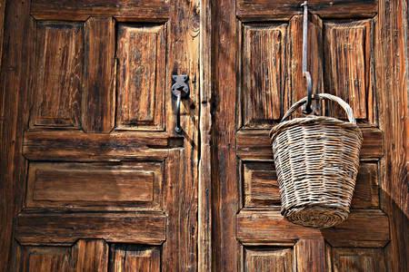 Porte en bois vintage