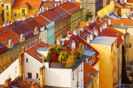 Colorful roofs of Prague