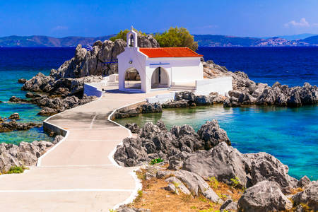 Chiesa sull'isola di Chios