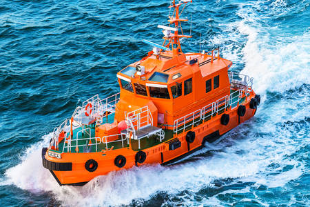 Orange Coast Guard boat