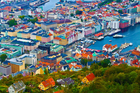 Tetti di Bergen