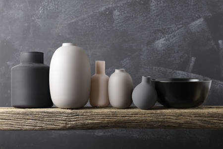 Vases of neutral colors